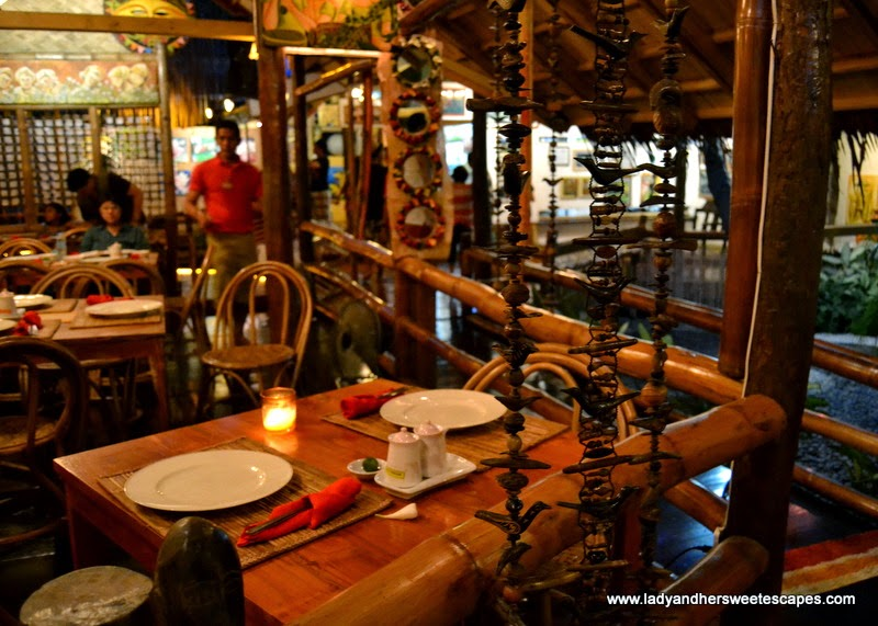 upscale native restaurant in Palawan