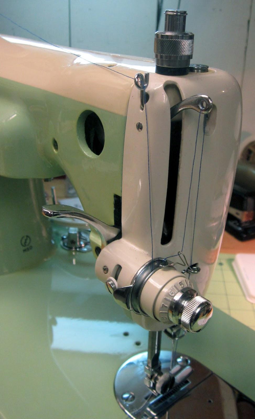 Mi Vintage Sewing Machines Coronado Brother 1950s Necchi Bu Machine Threading Diagram Its A Straight Stitch Only