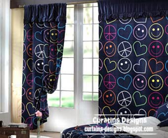 cheerful blue curtains for boys room, blue curtains,boys curtains