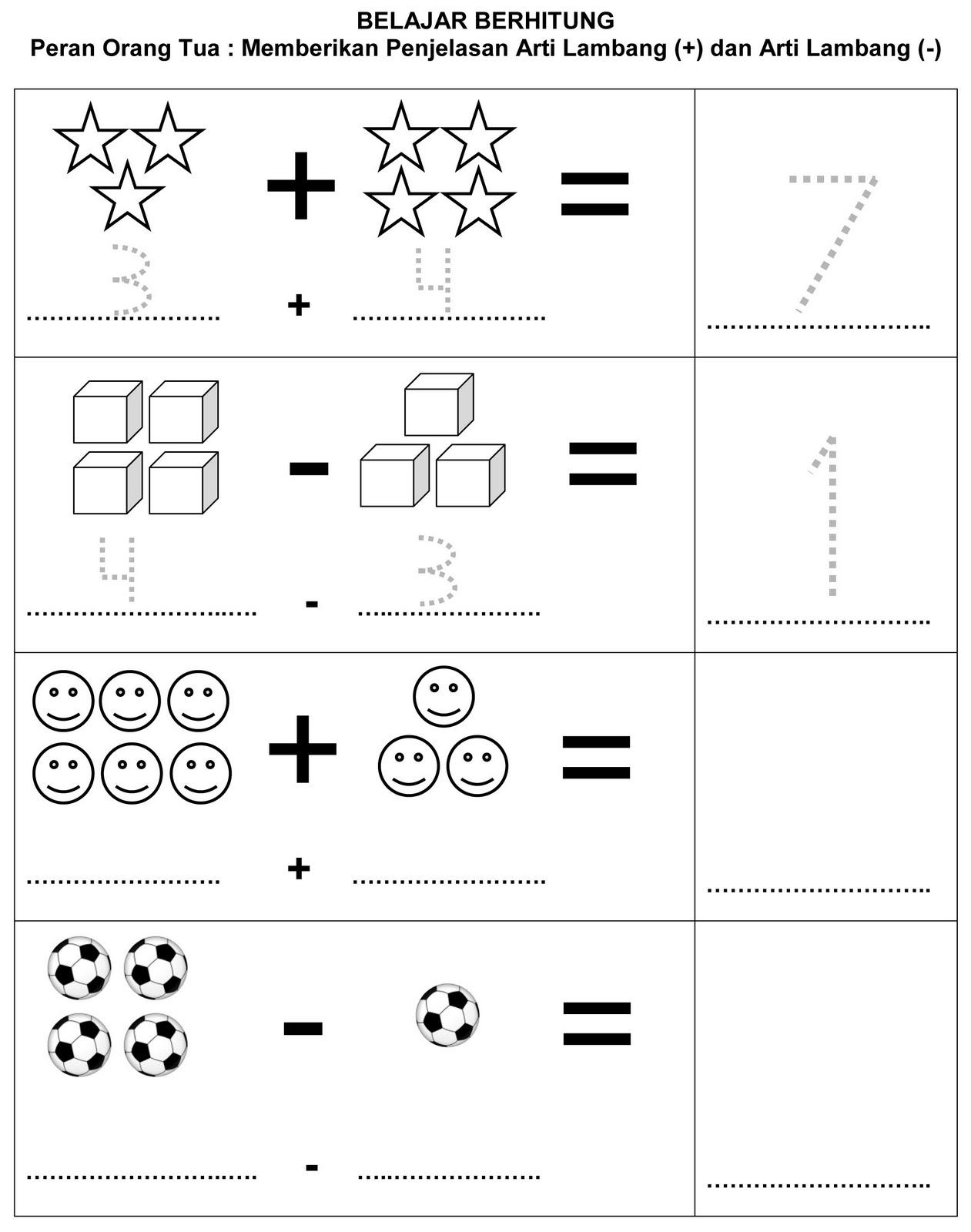 Belajar Menghitung Cepat Untuk Anak Tk Dunia Matematika
