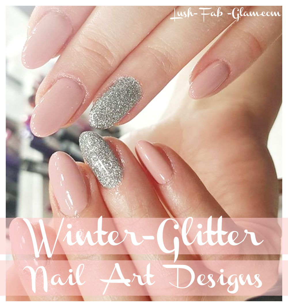 Glam up your winter mani with a little glitter, shimmer and shine.