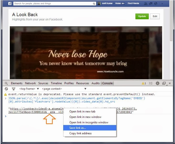 A Simple Way to Download Your Facebook Look Back Video