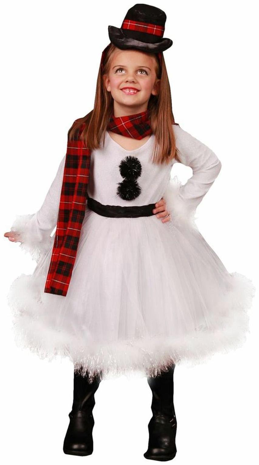 SnowMan Girl Costume Christmas