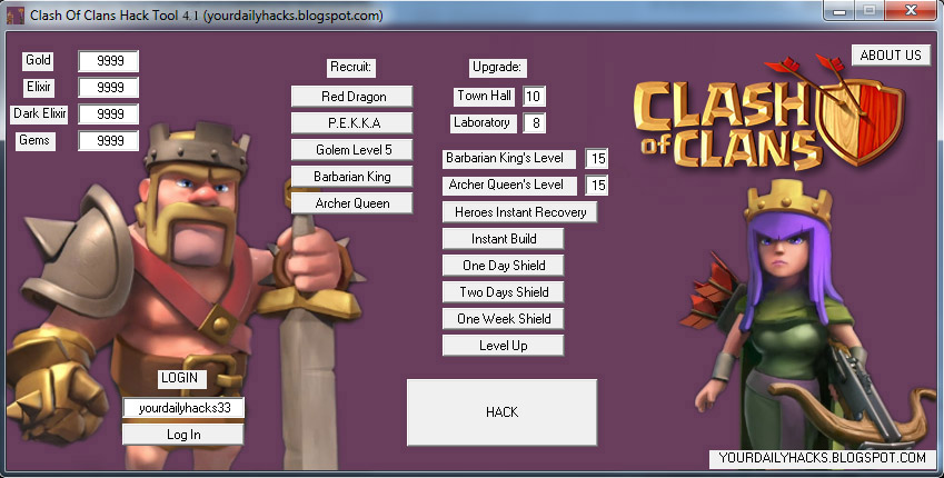 clash of clans august hack