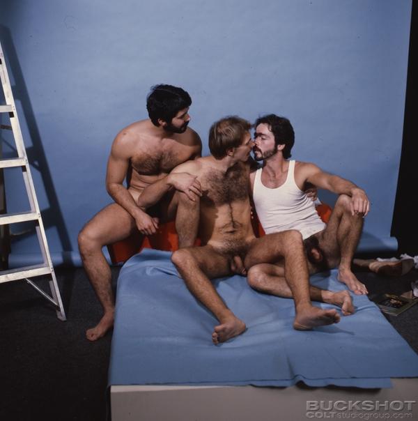 Retro hairy nude naked men