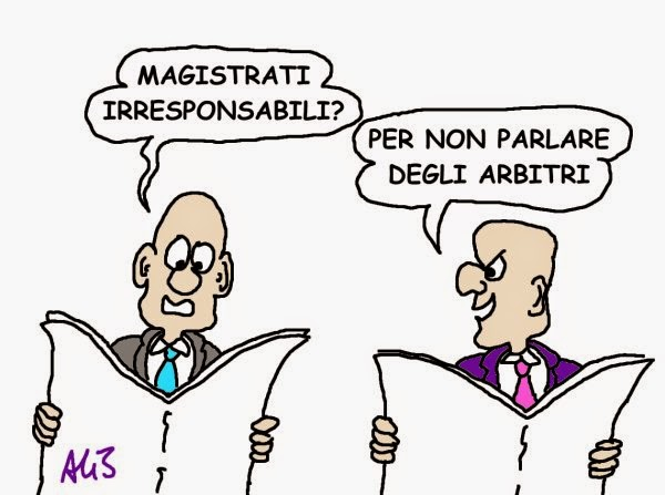 Berlusconi, magistrati vignetta
