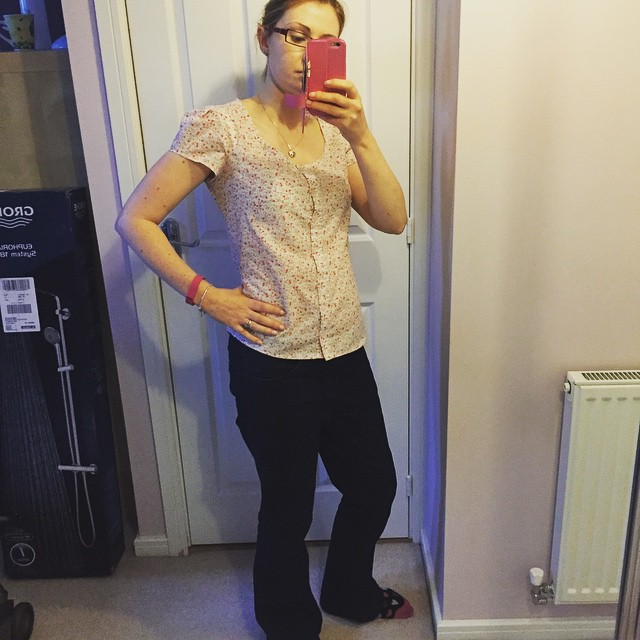 New Look blouse, burda jeans, me made may 2015 #mmmay15