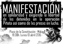 Manifestación en Málaga-contra la represión al movimiento anarquista