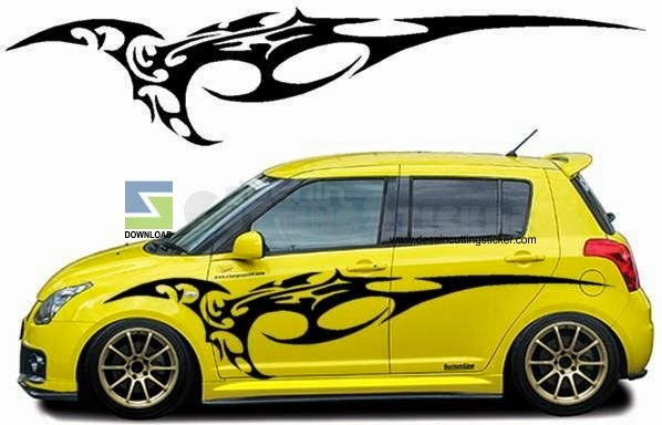 Tribal Car Decal Costum Design Idea The Super Sport Cars - Car decals designmodified cars using tribal design decal car design