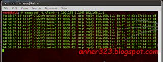 arpspoof -i wlan0 -t 192.168.1.105 192.168.1.1