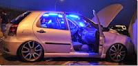 Kit Neon Interno P/ Todos Os Carros - Neon 25 Cm - Par