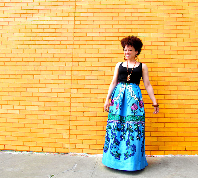 oonaballoona | a sewing blog | anna sui mood fabrics | linen maxi skirt