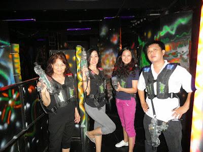 Trisha Sebastian Laser Tag with Lola and Cousins in Lazer Maxx Eton Centris Walk
