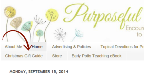 Purposeful homemaking 2014 christmas gift guide youll want to stay connected with facebook for updates and coupon codes fandeluxe Gallery