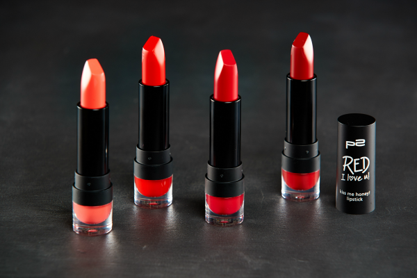 p2 Red I love u kiss me honey lipstick