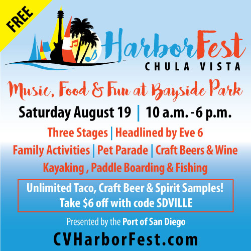 Promo code SDVILLE saves on passes to Chula Vista Harborfest's Tacos & Spirits Revolution!