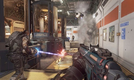 New directed energy weapons and a range of customisable suit abilities increase the pace of the multiplayer maps Photograph: Activision