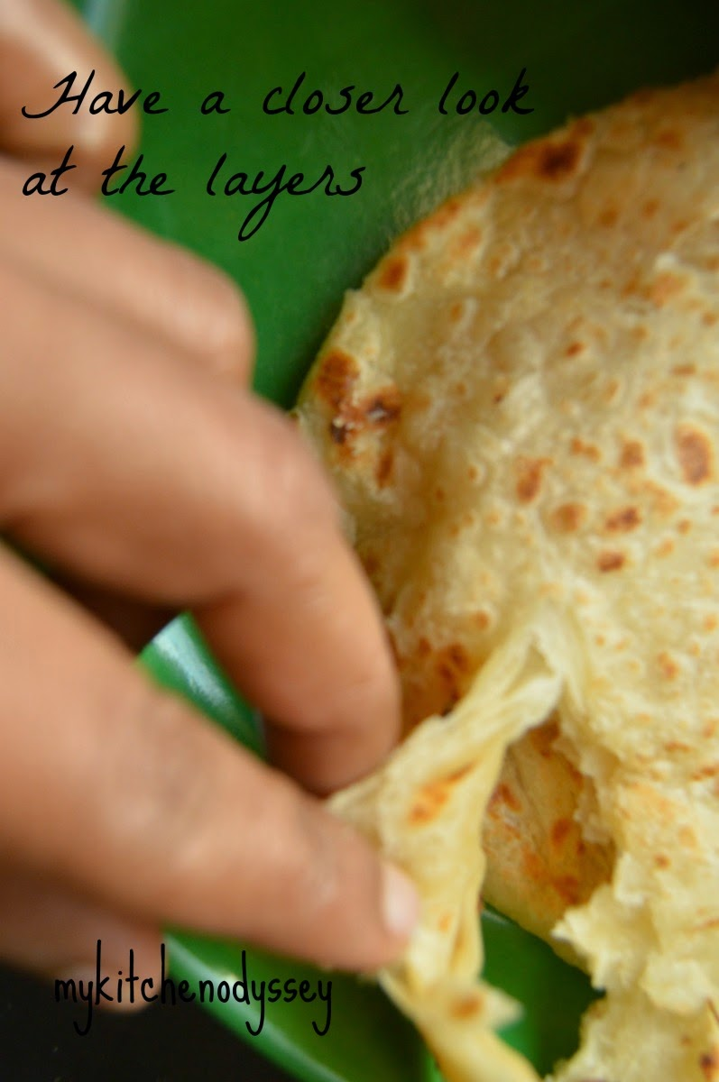 layers of parotta