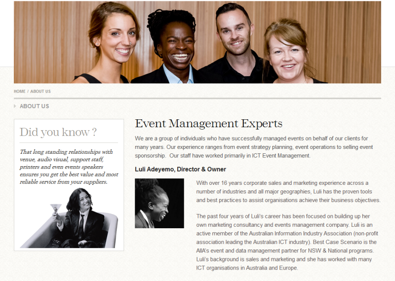 reputable event management specialists in Sydney