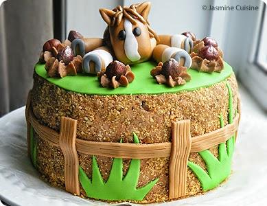 G teau choco nutella au fondant jasmine cuisine - Decoration gateau cheval ...
