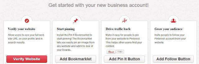 Pinterest verslo profilio tobulinimas