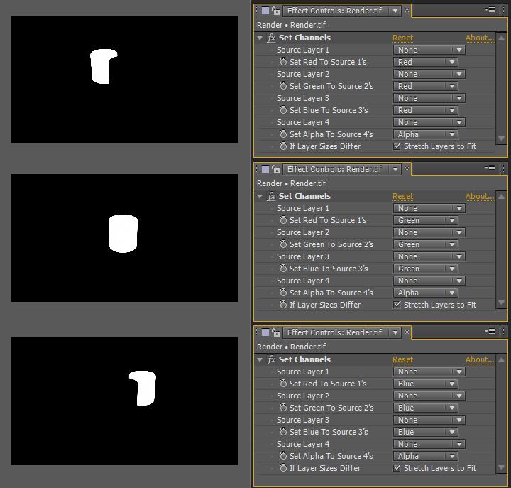 Aislando los cilindros mediante Set Channels