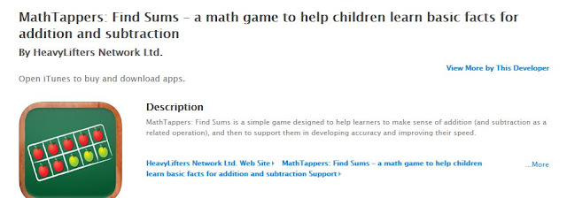 https://itunes.apple.com/us/app/mathtappers-find-sums-math/id353582286?mt=8