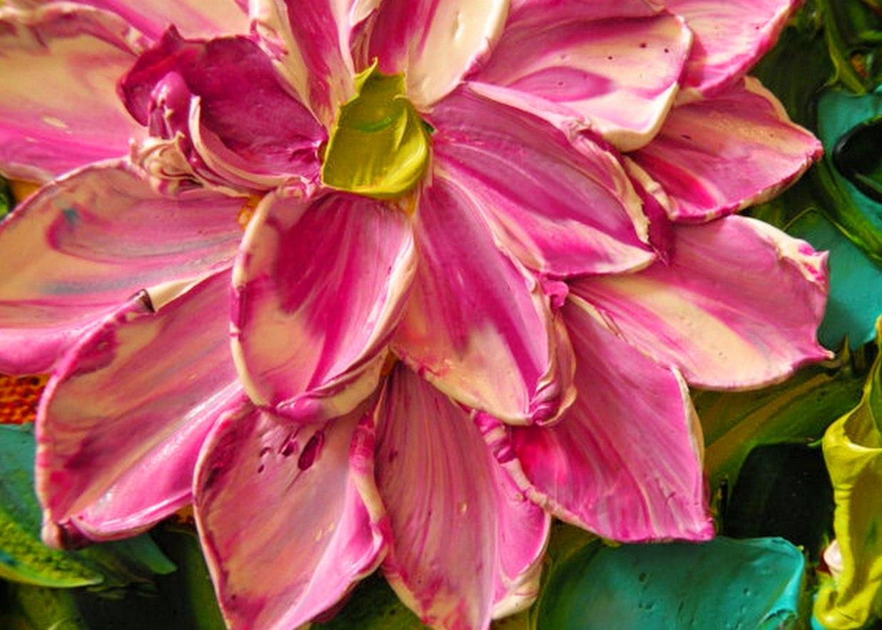 cuadros de flores con relieve pinturas de flores con relieve