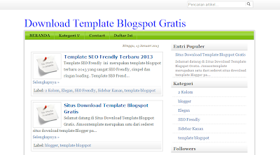 Template SEO Frendly Terbaru 2013