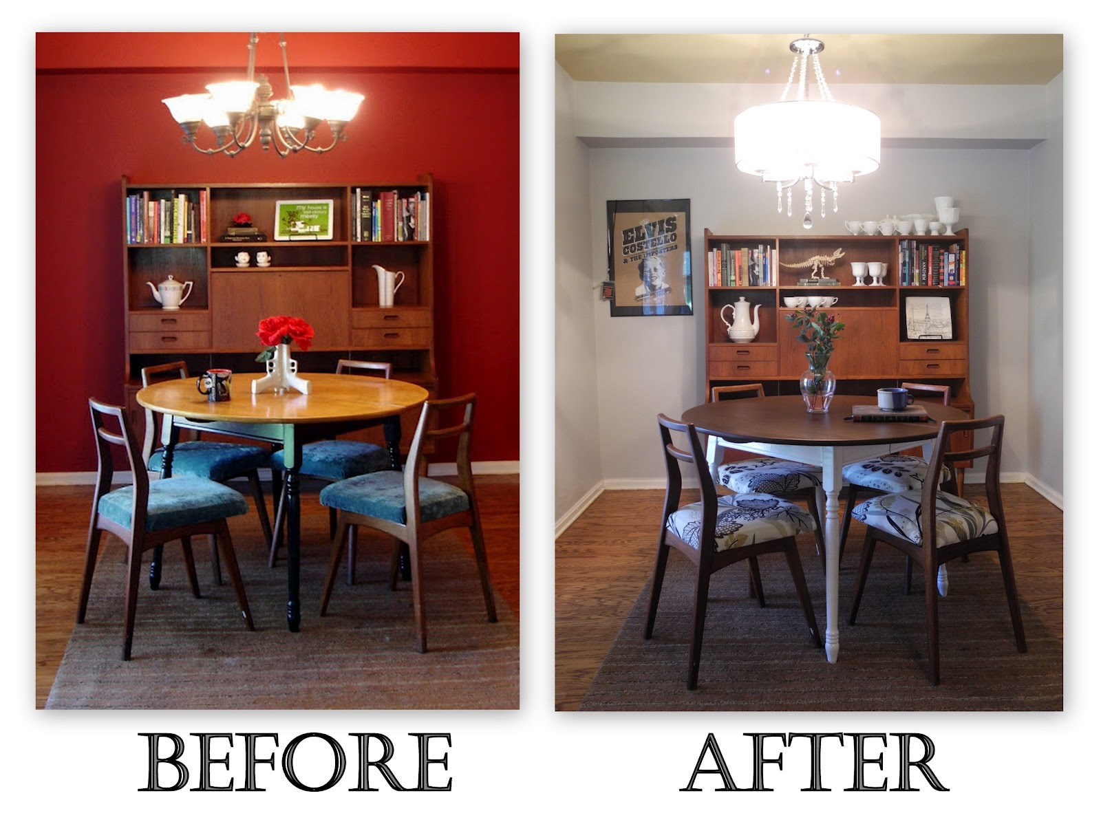 Librarian Tells All: I Live Here: Gray Mid Century Dining Room ...
