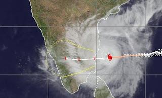 Tropensturm THANE als Hurrikan vor Indien, Thane, Indischer Ozean Indik, Zyklonsaison Nordindik, aktuell, Dezember, 2011, Satellitenbild Satellitenbilder, Verlauf,