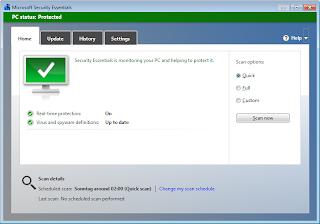 Free Antivirus dari Microsoft