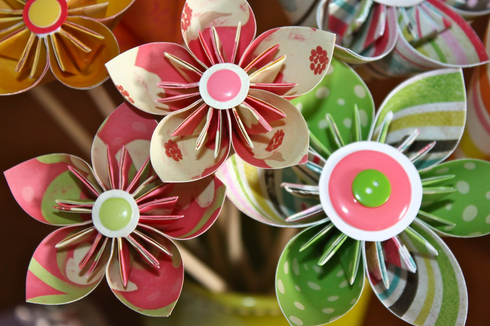 Paper flower business gallery flower decoration ideas life genuinely so i have been making these kusudama origami flowers latetly and well im addicted mightylinksfo
