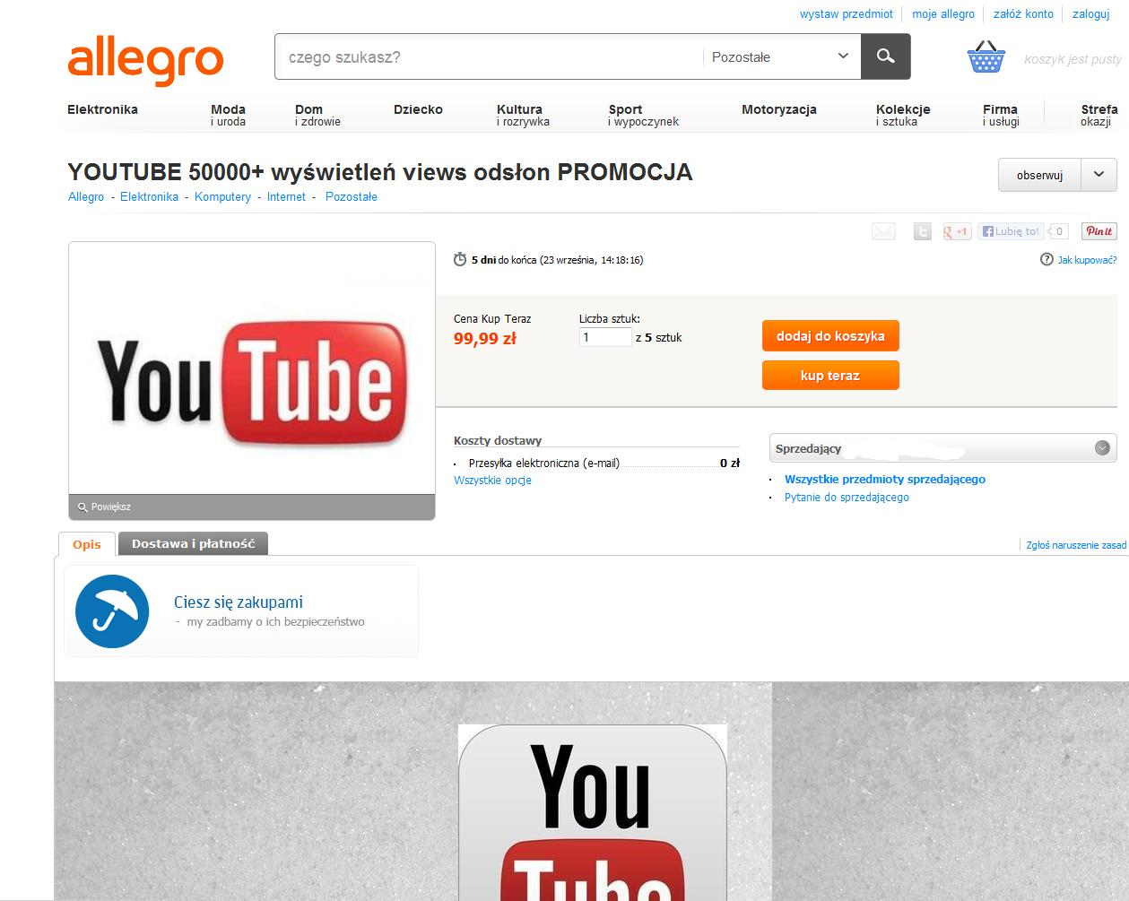 jak kupić licznik youtube?