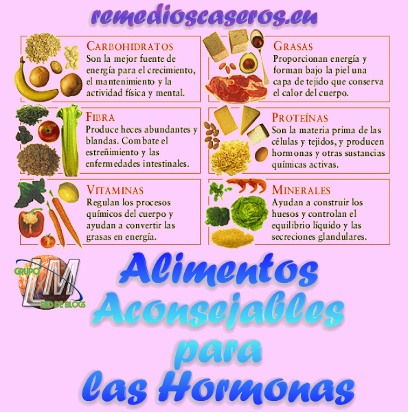 Alimentos aconsejables para las hormonas