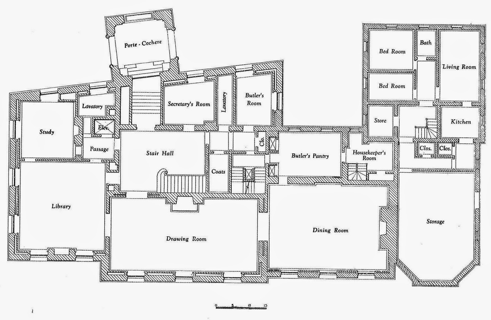 Architecture john russell pope 39 s morton house for sale for Vice president house floor plan