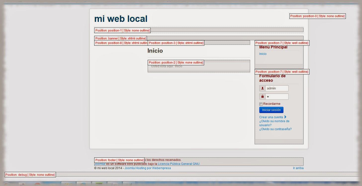 Cómo añadir posiciones de módulo a una plantilla Joomla 3.3.1 ...