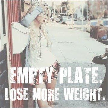Plato vacío. Perder más peso