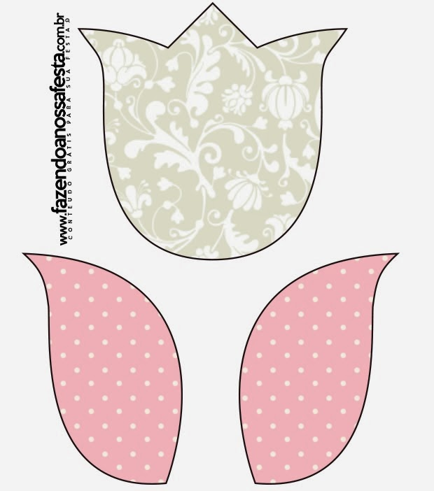 Tulip Outline Printable Free Printable Tulip Template