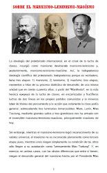 SOBRE EL MARXISMO-LENINISMO-MAOÍSMO