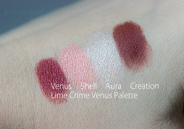 lime crime venus swatches shell aura creation