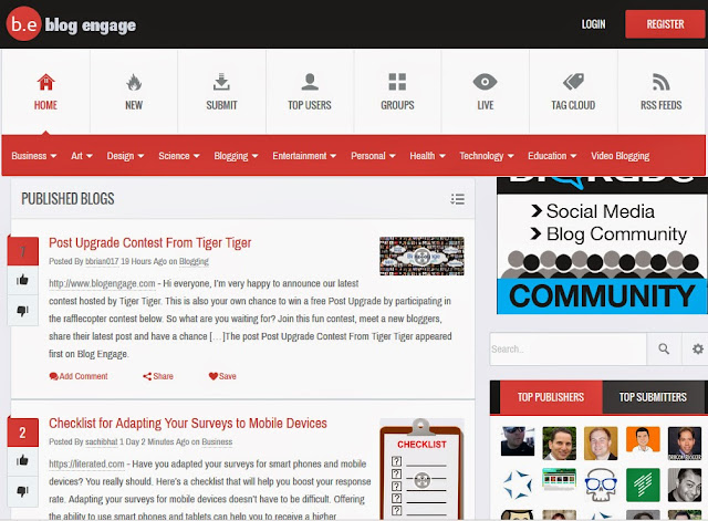 BlogEngage Review : Best Online Community for Bloggers : eAskme