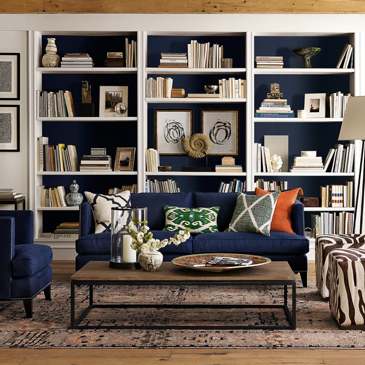 Shelf styling with diy art forever cottage for Wallpaper home center