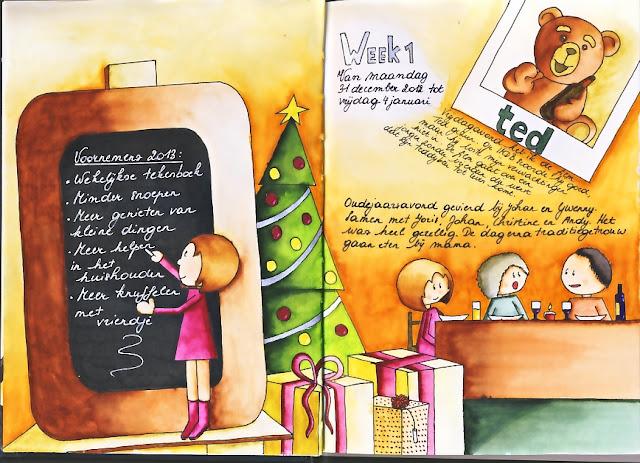 Art Journal, Stabilo Pen 68, Aquarel, diary