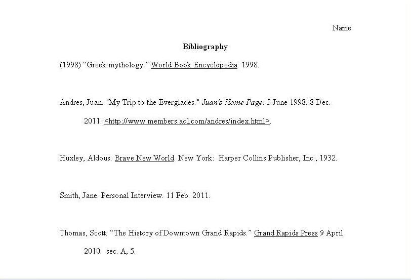 brave new world bibliography