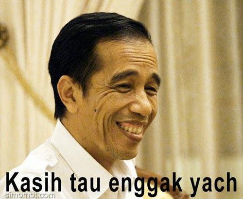 Gambar Meme Jokowi Galau Politik Lucu DP PP BBM Susunan Kabinet Trisakti