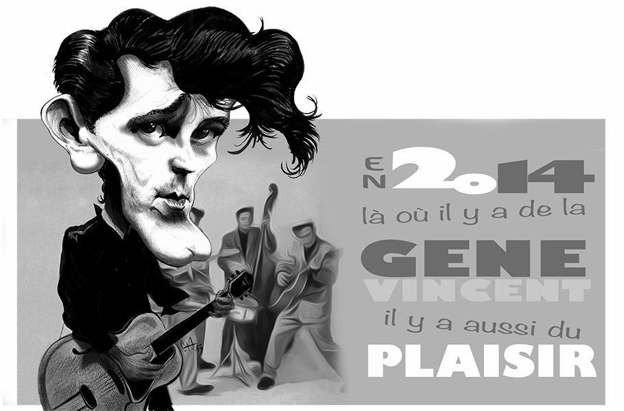 caricature de Gene Vincent Par Guillaume Néel