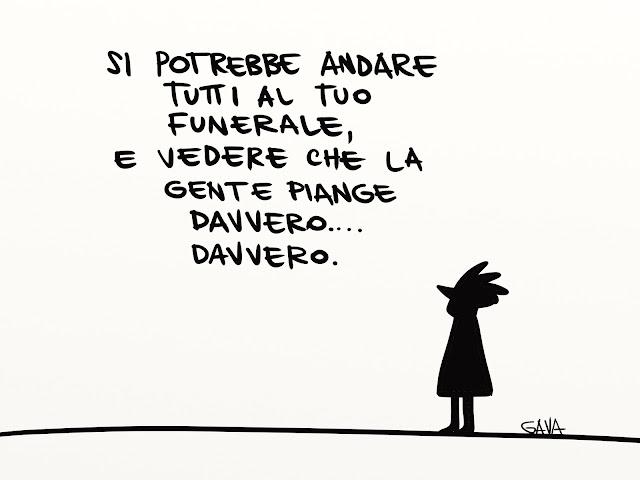 gavavenezia gava satira vignette illustrazioni ridere piangere pensare caricature fumetti   jannacci enzo milano piange davvero funerale