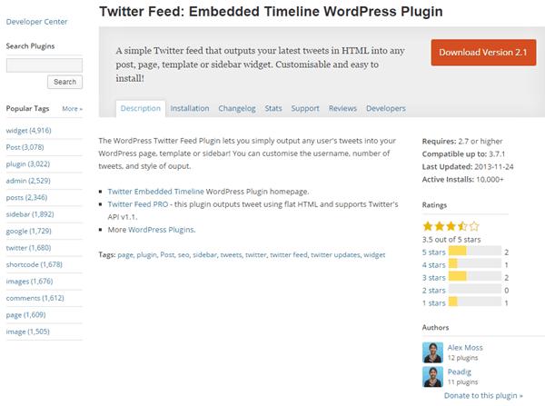 Twitter Feed: Embedded Timeline WordPress Plugin