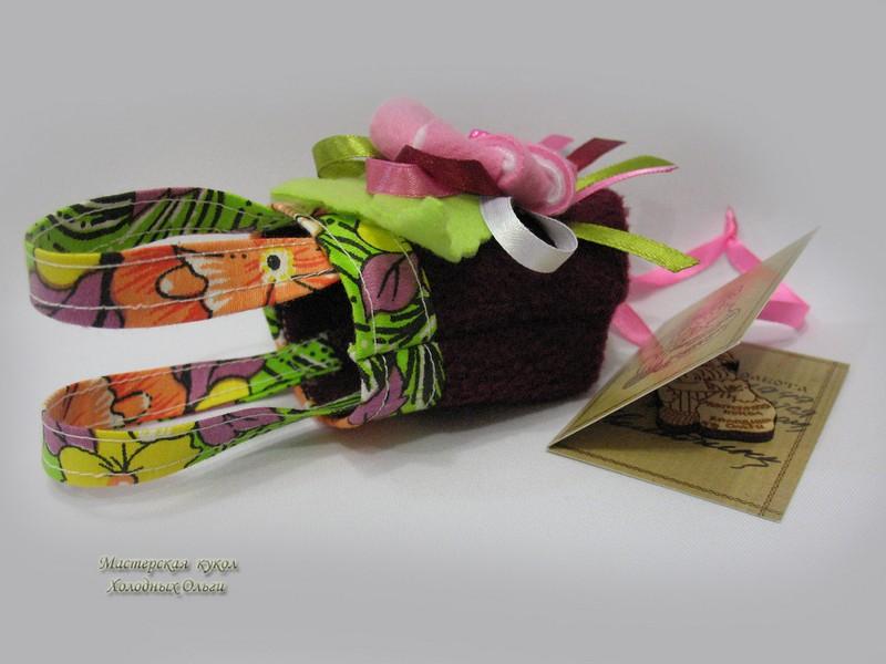 Кукольная сумка бордо